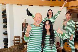 Bruce Willis og Demi Moore eru góðir vinir.