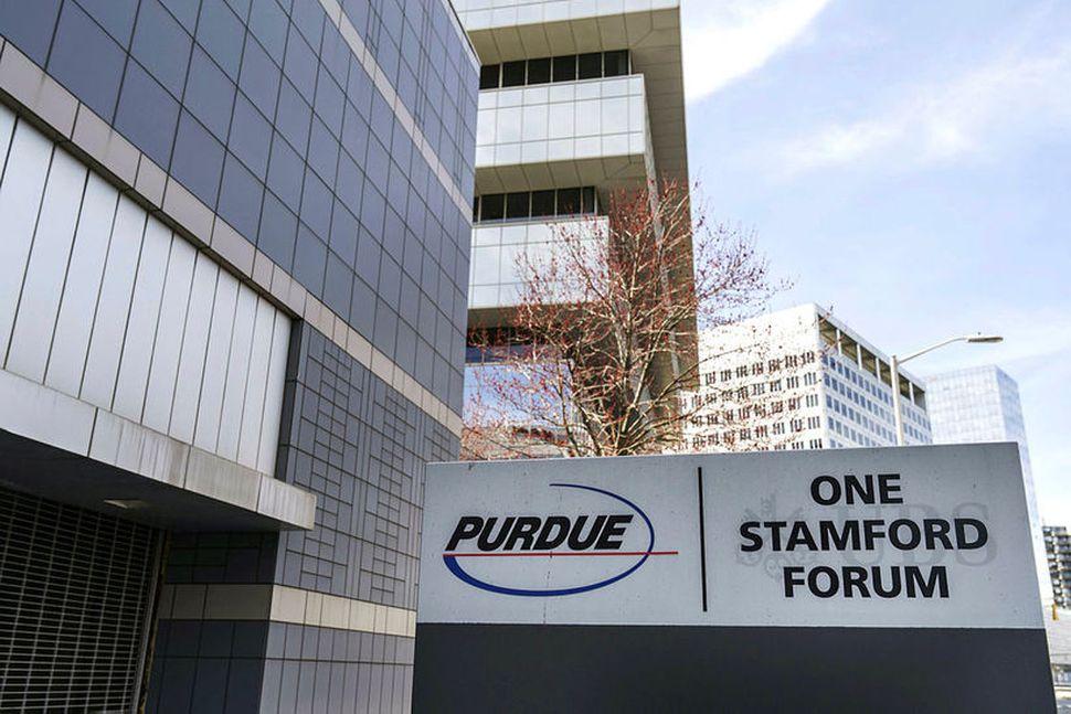 Höfuðstöðvar Purdue Pharma í Stamford, Connecticut.