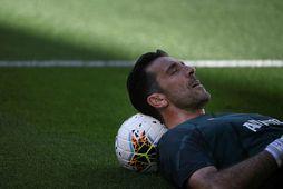 Gianluigi Buffon stóð á milli stanganna hjá Juventus um helgina gegn Torino.
