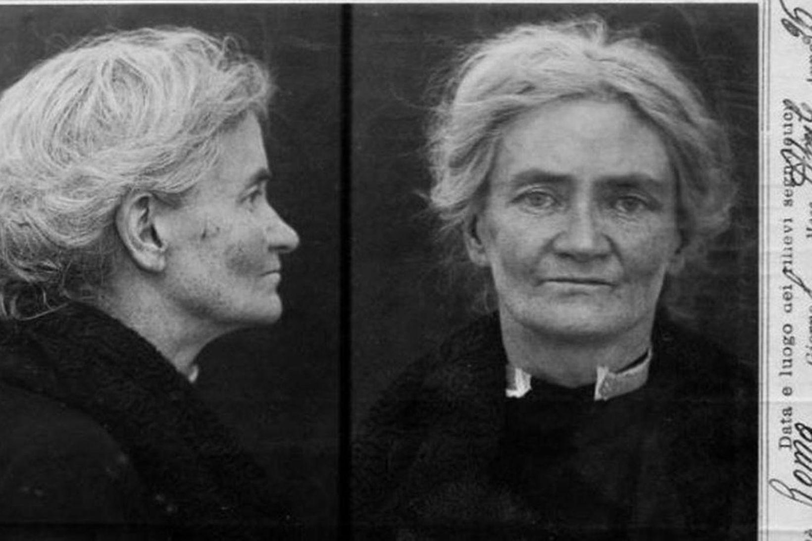 Violet Gibson var handtekin árið 1926.