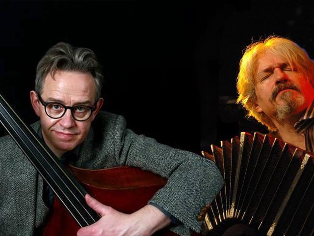Olivier Manoury og Tómas R. Einarsson í Hannesarholti