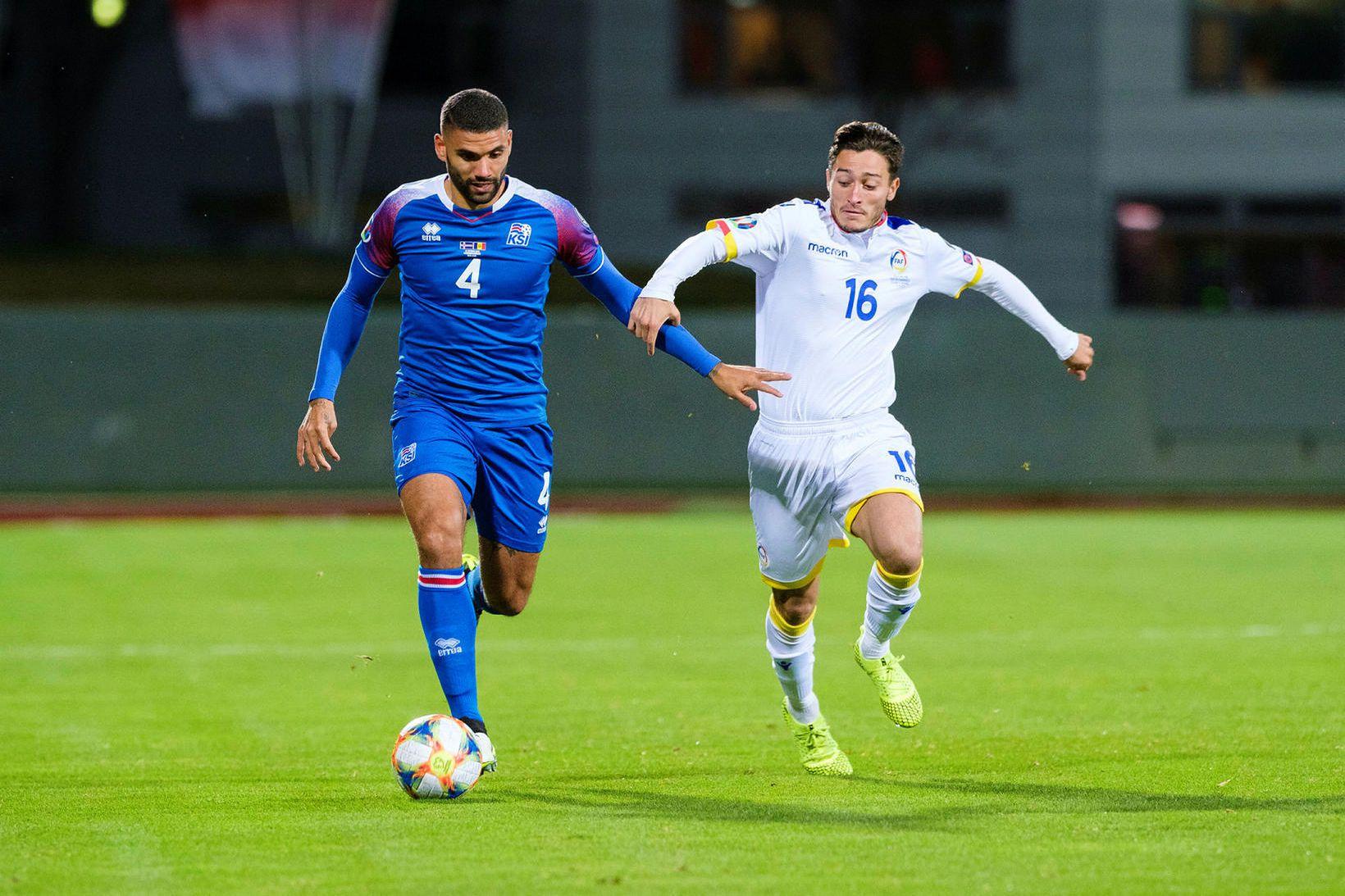 Guðlaugur Victor Pálsson í landsleik gegn Andorra.