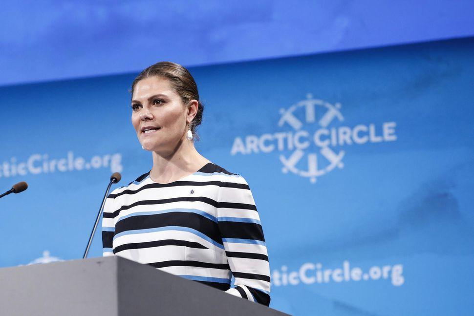 Viktoría krónprinsessa Svíþjóðar á opnun Arctic Circle ráðstefnunnar í Hörpu ...