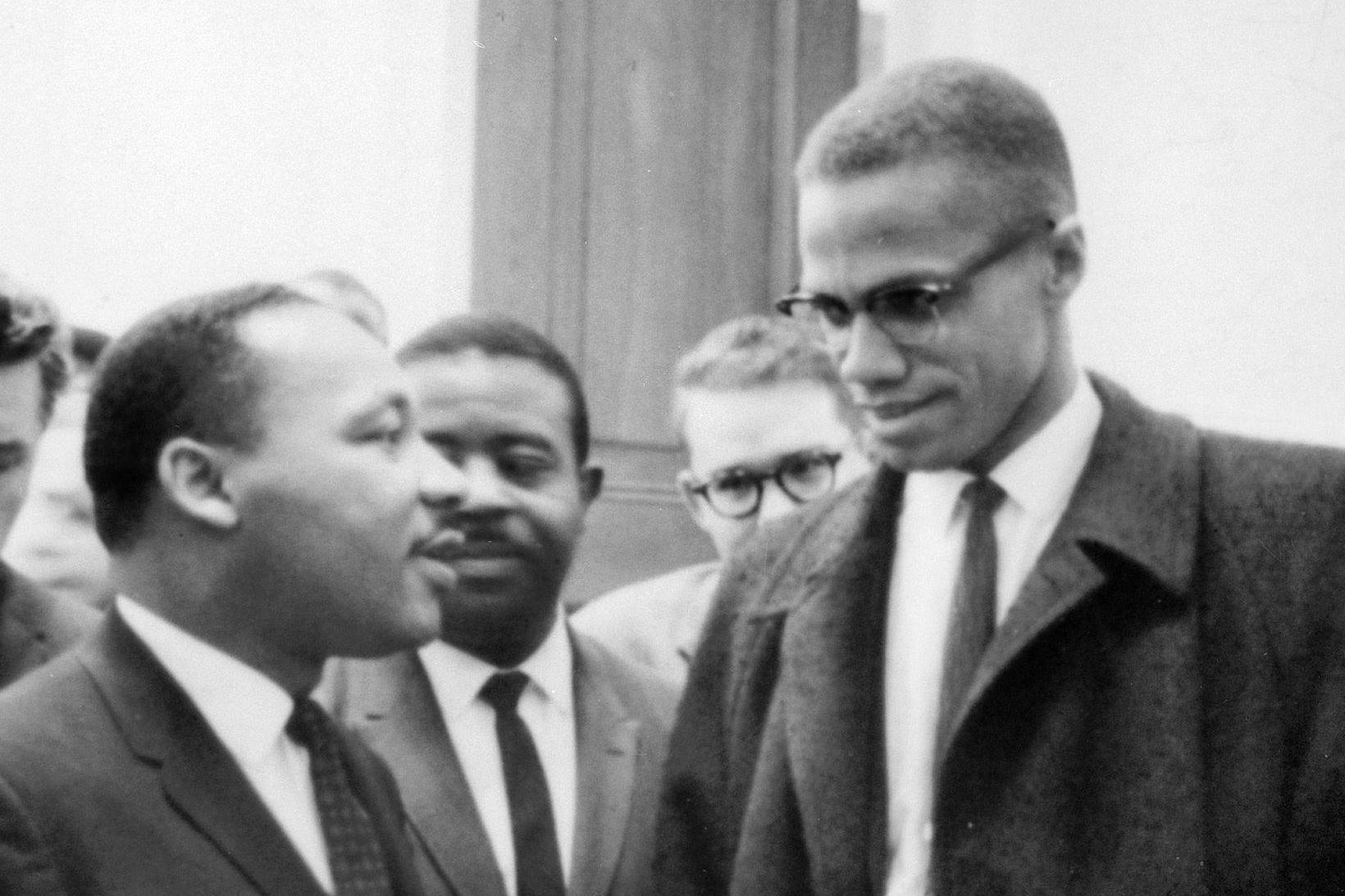 Malcolm X, til hægri, ásamt Martin Luther King.