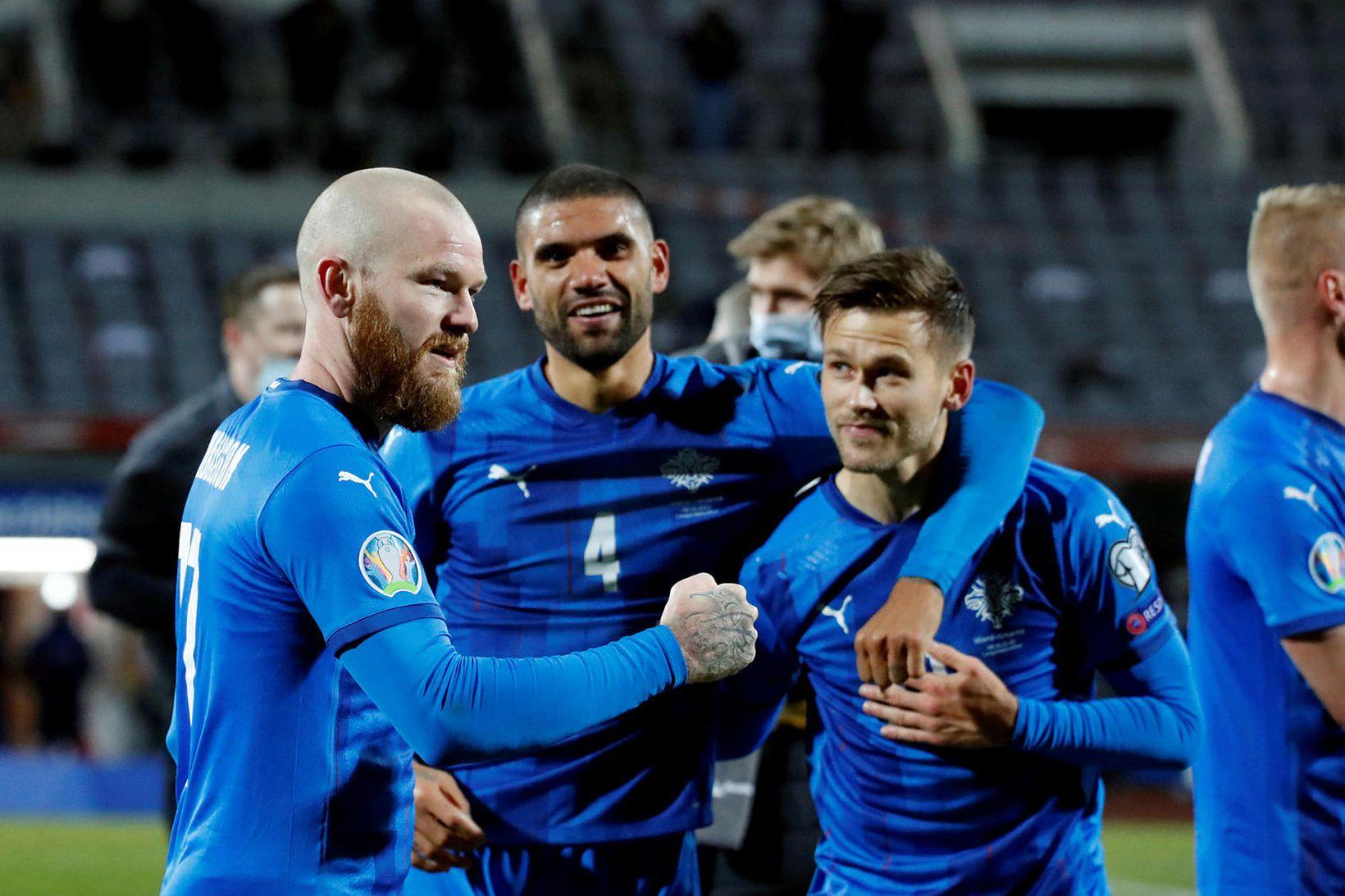 Aron Einar Gunnarsson, Guðlaugur Victor Pálsson og Arnór Ingvi Traustason …