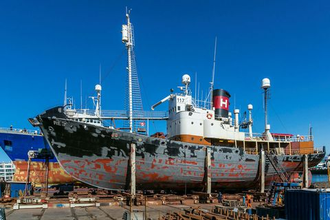 Hvalur 8 is a seventy year old whale hunting vessel.