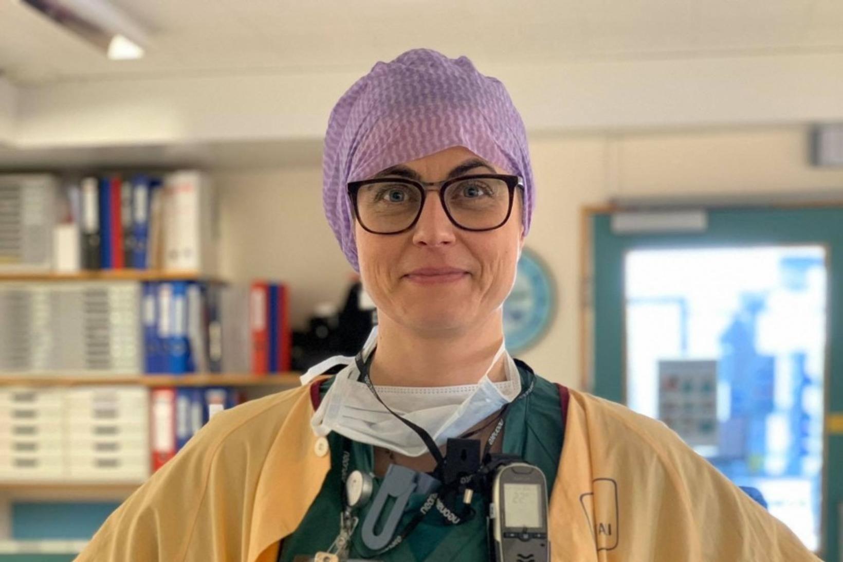 Þóra Gunnlaugsdóttir hjúkrunarfræðingur og aðstoðardeildarstjóri gjörgæslunnar.