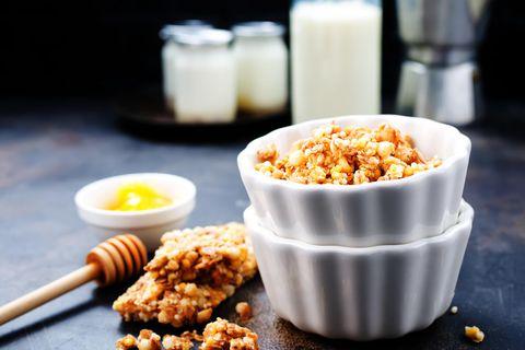 Heimagert granola er alveg svakalega gott og hollt.