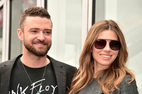 Hjónin Justin Timberlake og Jessica Biel.