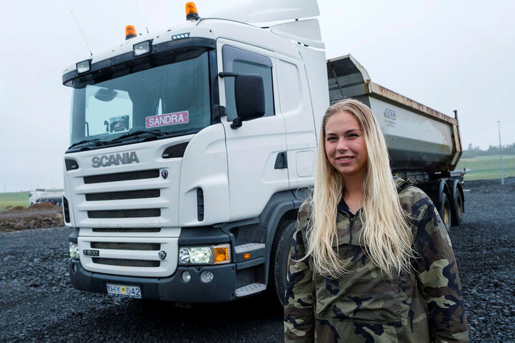 Sandra Rún Ágústsdóttir veit margt um ökutæki og kunni vel …