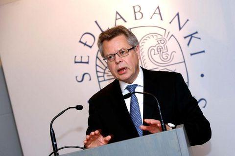 Már Guðmundsson, Governor of the Central Bank of Iceland.