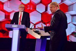 Jeremy Corbyn og Boris Johnson í kappræðum BBC fyrir kosningar. Íhaldsflokkur Johnsons vann stórsigur í …