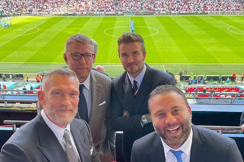Guy Ritchie, David Beckham, Björgólfur Thor Björgólfsson og Dave Grutman.