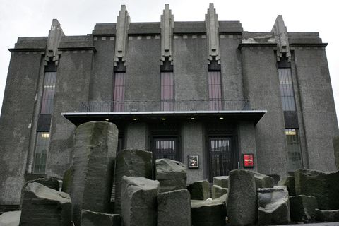 The National Theatre of Iceland on Hverfisgata in central Reykjavik.