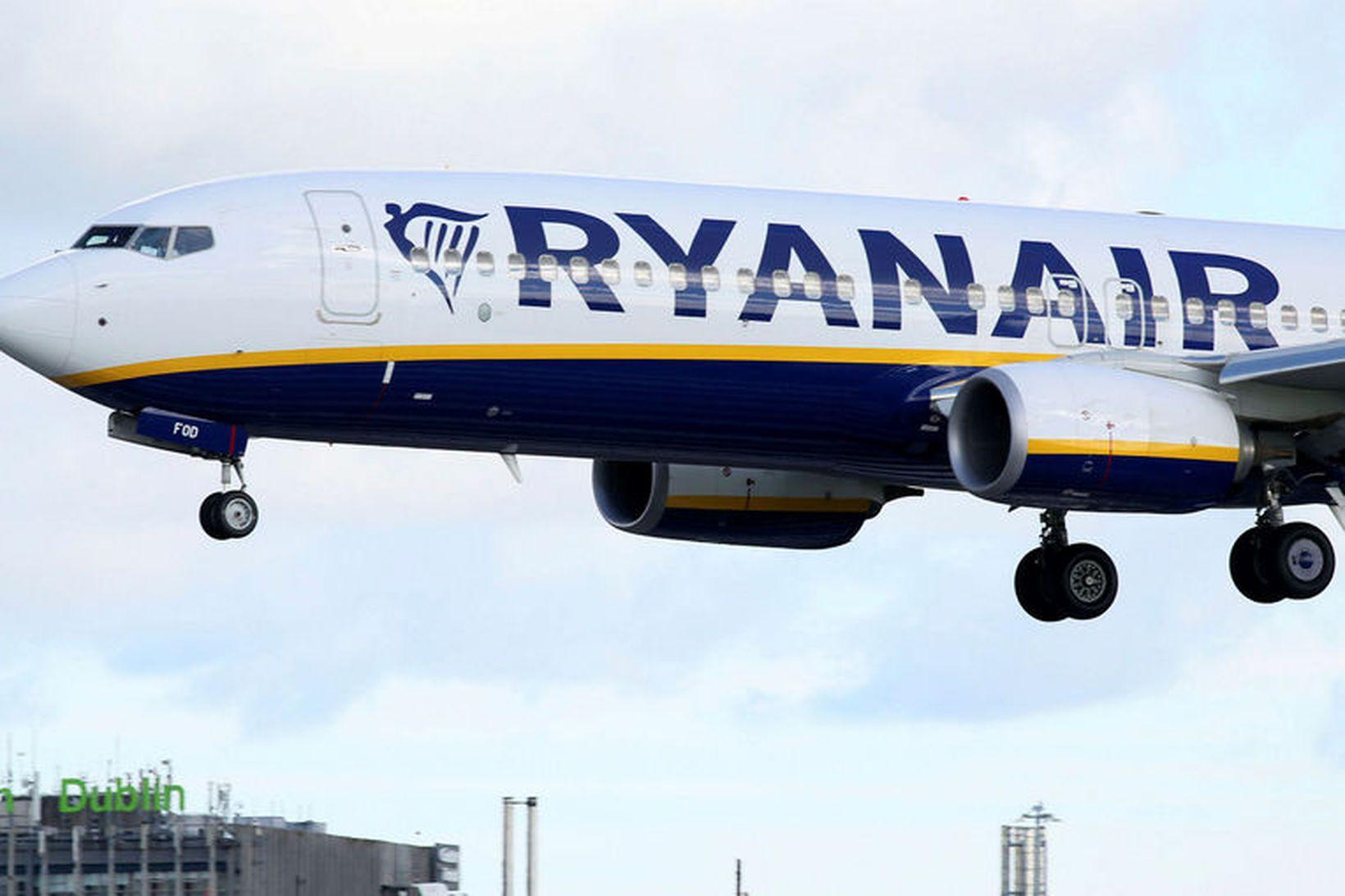 Flugvél Ryanair. Mynd úr safni.