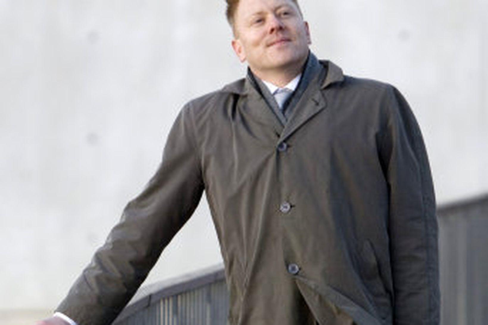 Jón Gnarr fer fyrir Besta flokknum.
