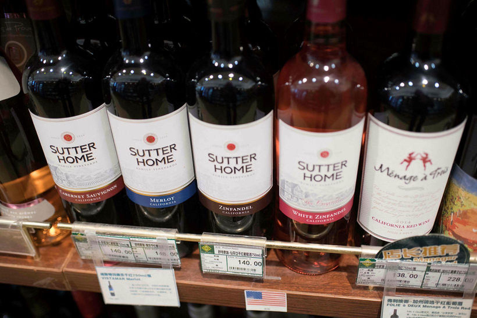 Bandarískt vín er á meðal þeirra vöruflokka sem Kínverjar hafa …
