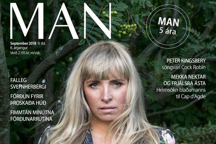 Björk Eiðsdóttir ritstjóri MAN ákvað að setja sjálfa sig á ...