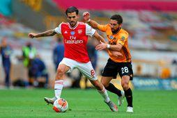 Dani Ceballos í leik með Arsenal.