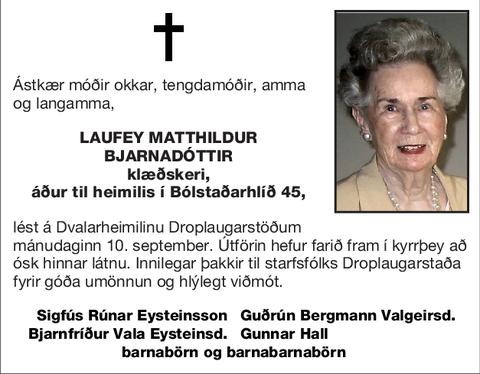 Laufey Matthildur Bjarnadóttir