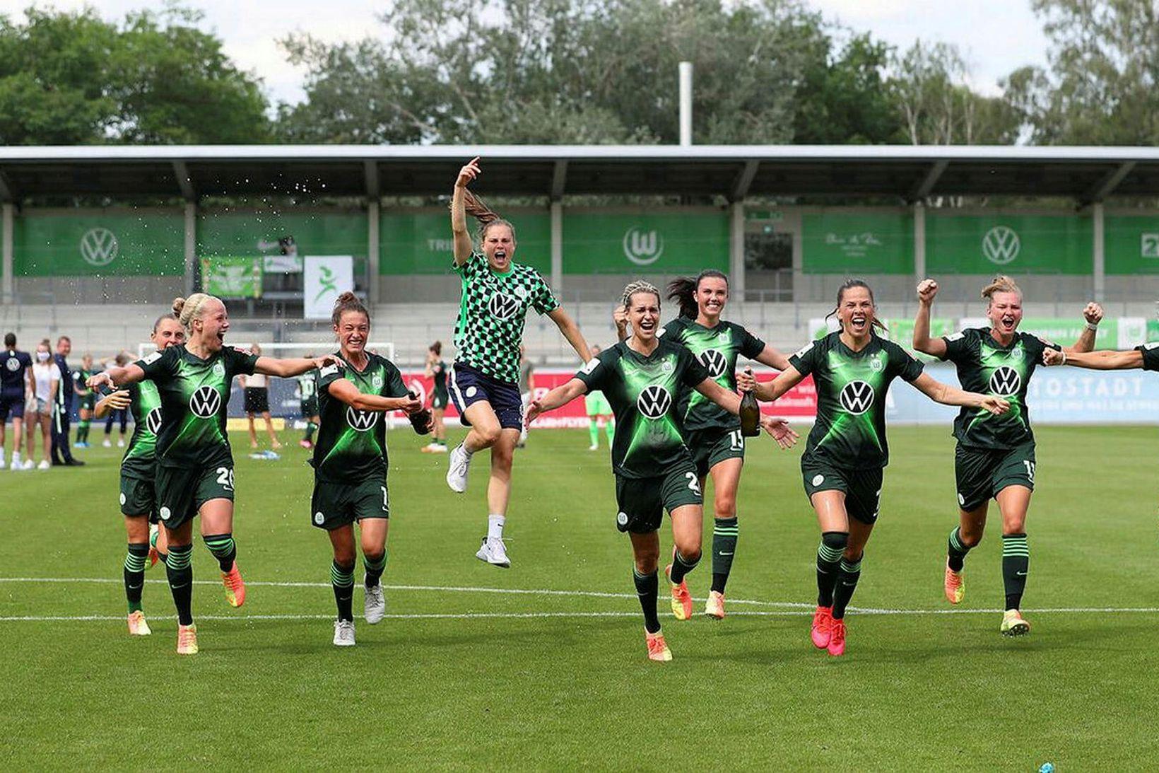 Wolfsburg vann tvöfalt í ár, fjórða árið í röð.