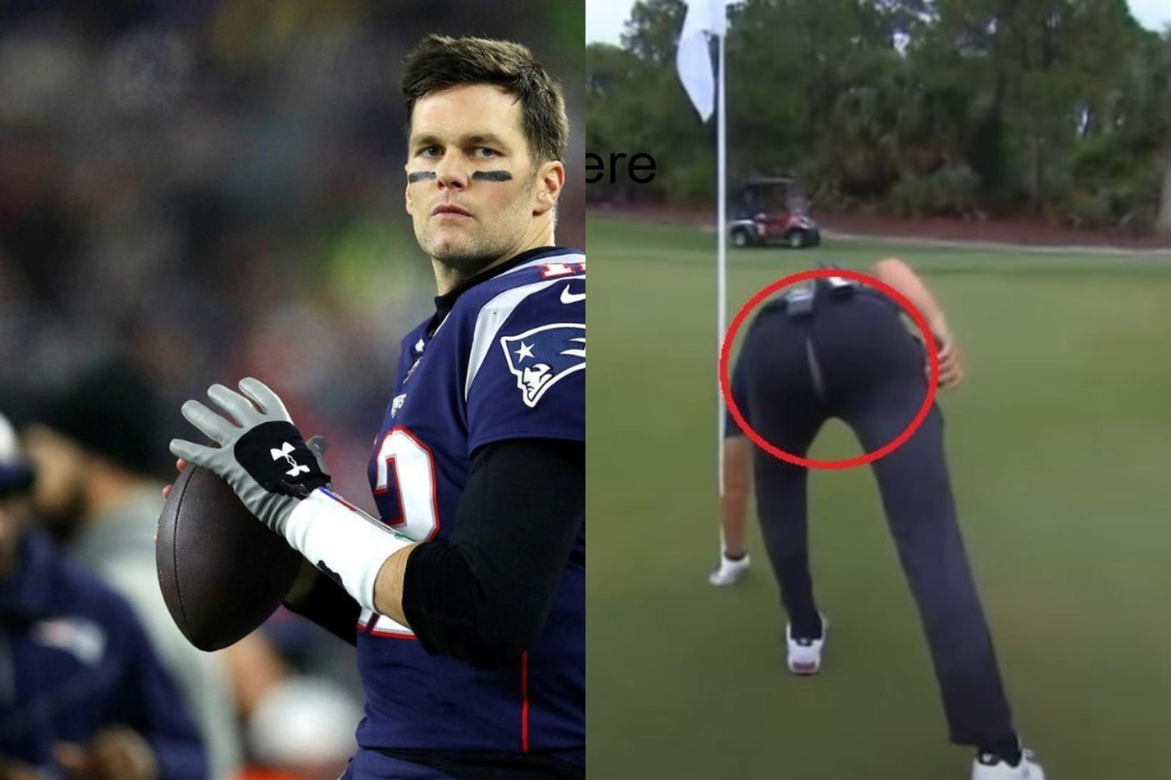 Tom Brady var óheppinn á golfvellinum um helgina.