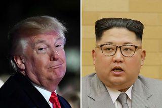 Donald Trump Bandaríkjaforseti og Kim Jong-un, leiðtogi Norður-Kóreu á samsettri mynd.