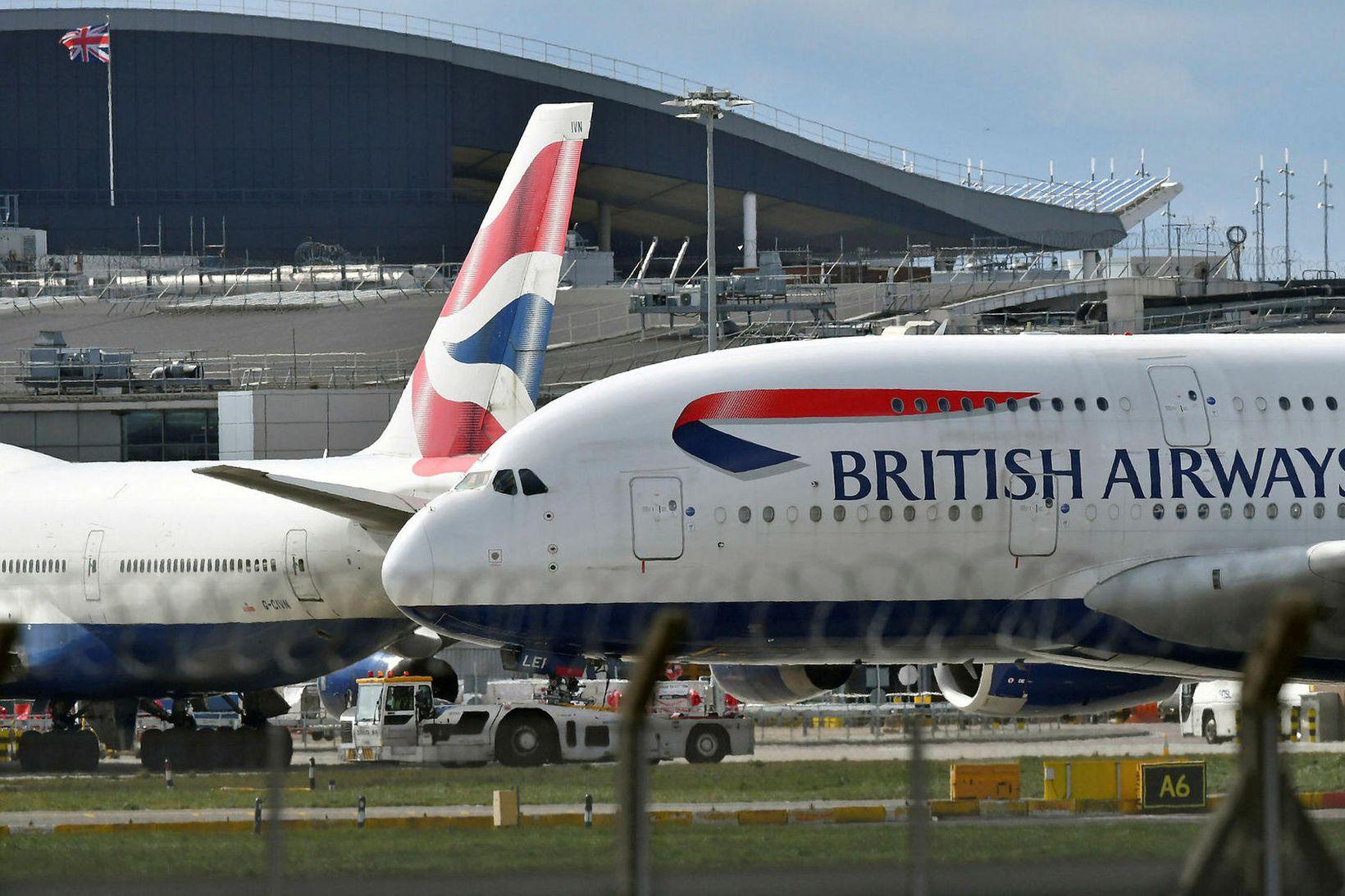 Flugfélagið British Airways segir upp nánast öllu starfsfólki sínu í …