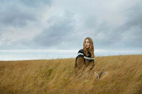 A woolen sweater inspired by Icelandic tradition from Farmers Market.