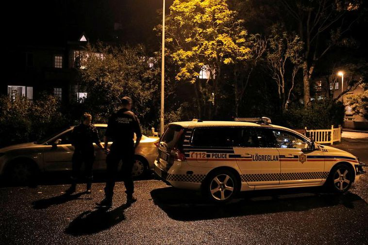 Police outside Hagamelur in September, at the scene of the crime.