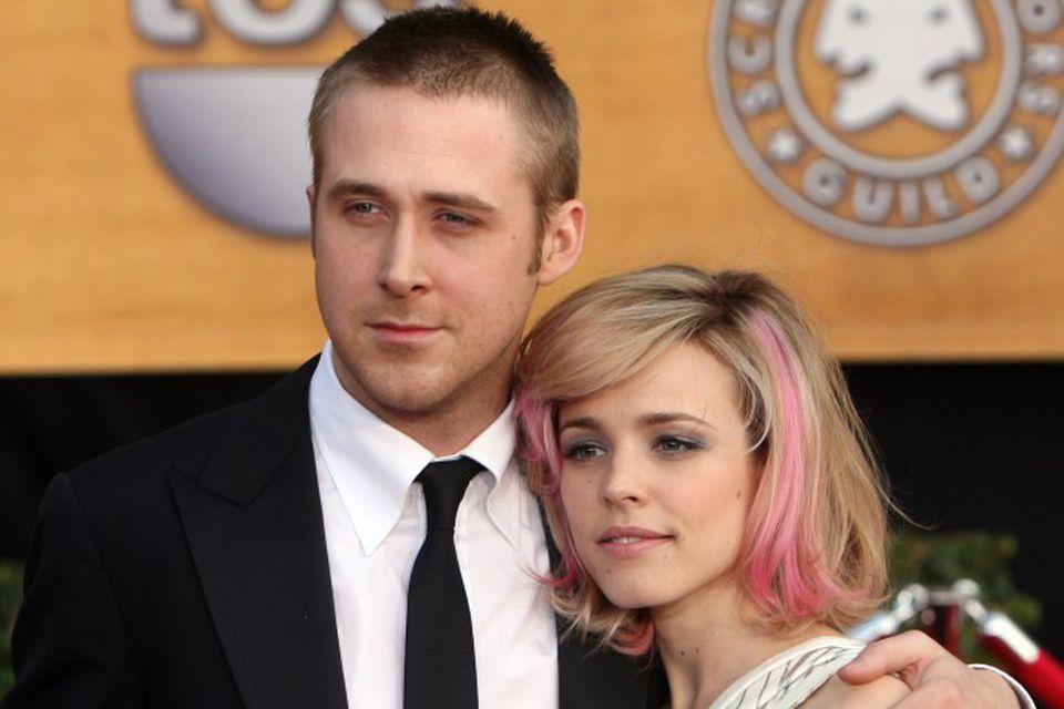 Gosling ásamt Rachel McAdams. Þau léku saman í Notebook og voru einnig par um tíma.
