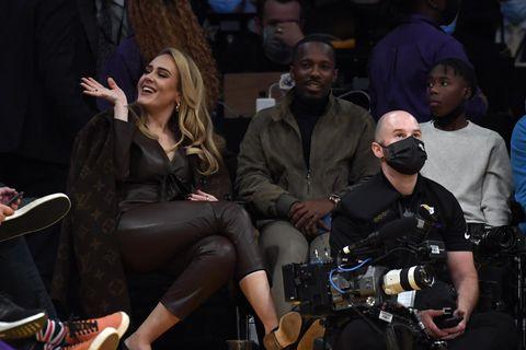Adele og Rich Paul á leik Los Angeles Lakers og Golden State Warriors í Los …
