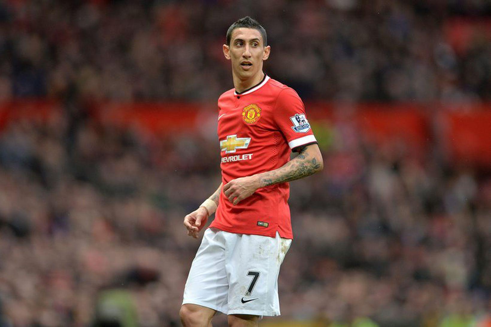 Angel Di Maria átti ekki góðan tíma með Manchester United.