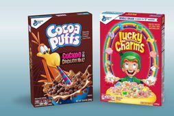 Bæði Cocoa Puffs og Lucky Charms verða áfram í sölu hjá Kosti.