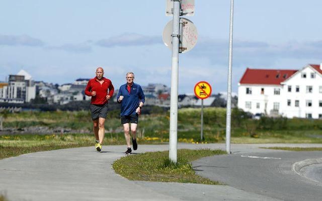 Margir hafa nýtt sér gott veður undanfarið og skellt sér út að hlaupa.