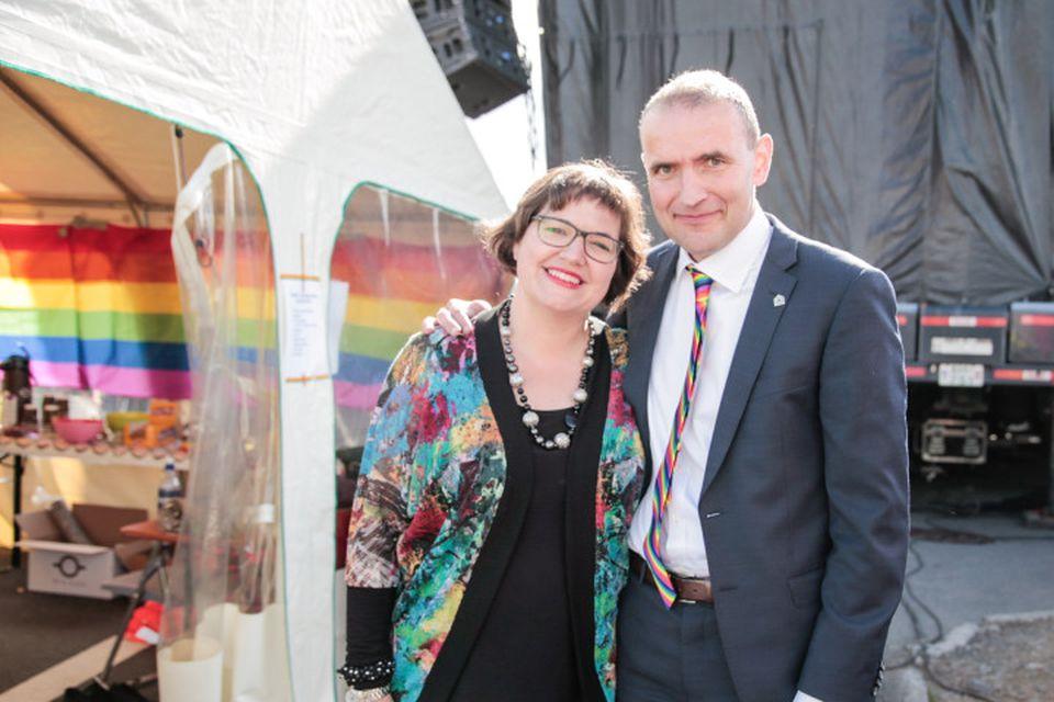 Forsetahjónin Eliza Reid og Guðni Th. Jóhannesson.