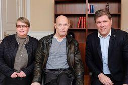 Bryndís Snæbjörnsdóttir, Haraldur Ólafsson og Bjarni Benediktsson.