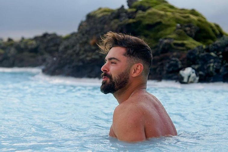 Who wouldn't like bumping into a bearded Zac Efron in the Blue Lagoon?