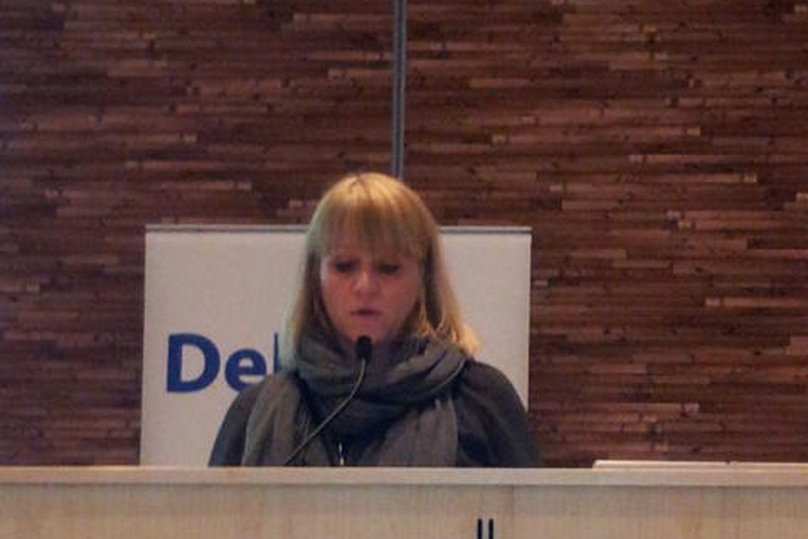 Katrín Júlíusdóttir á skattadegi Deloitte í morgun