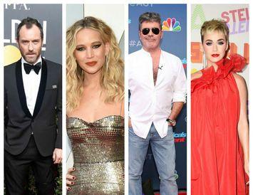 Jude Law, Jennifer Lawrence, Simon Cowell og Katy Perry eiga ekki að baki langa skólagöngu.