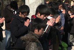 Hamfaranna minnst í Japan