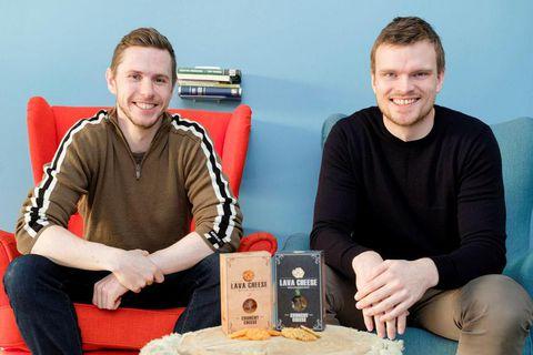 Guðmundur P,  Líndal and Jósep B -. Þórhallsson, the creators of Lava Cheese.