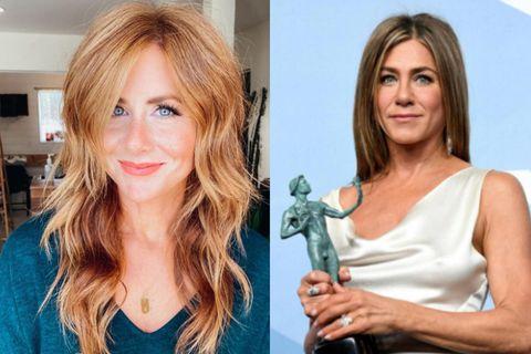 Það eru óneitanlega líkindi með Caitlin og Jennifer Aniston.