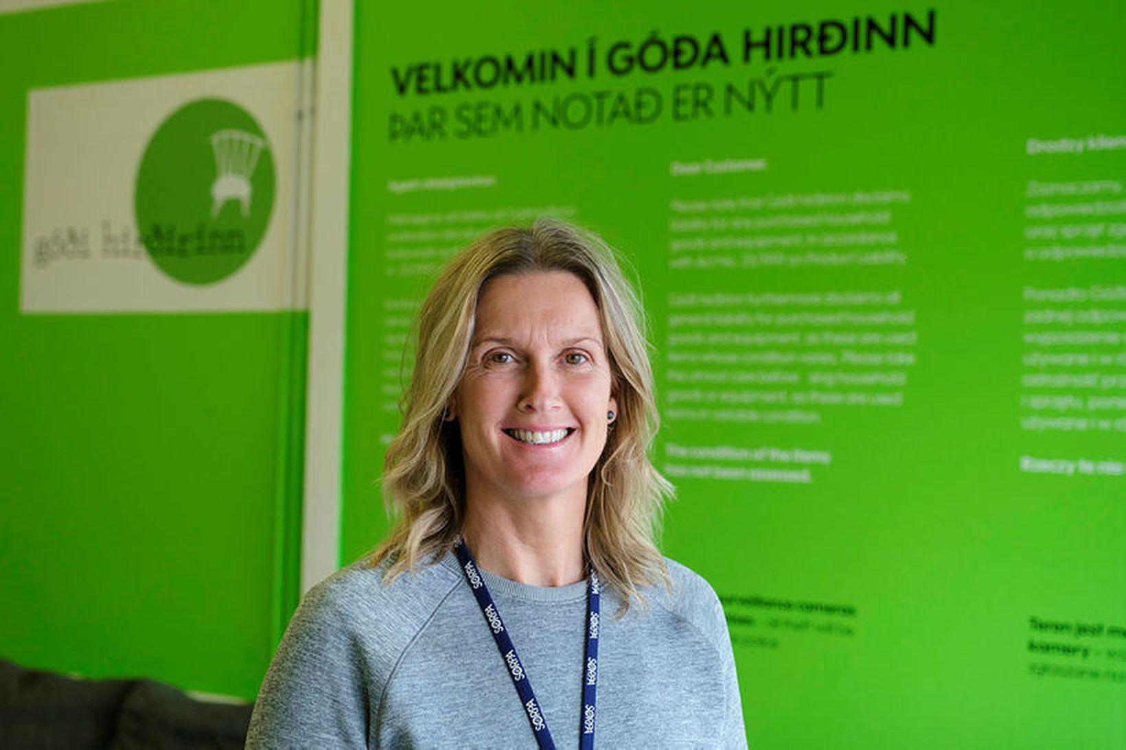 Ruth Einarsdóttir rekstrarstjóri Góða hirðisins.