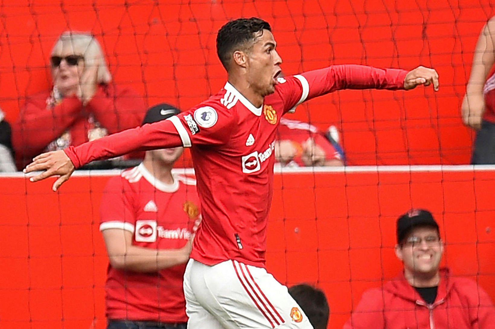 Ronaldo skoraði sitt fyrsta mark fyrir Manchester United í 12 …