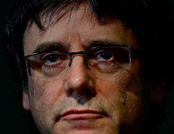 Carles Puigdemont. Framsalsbeiðnin hefur verið afturkölluð.
