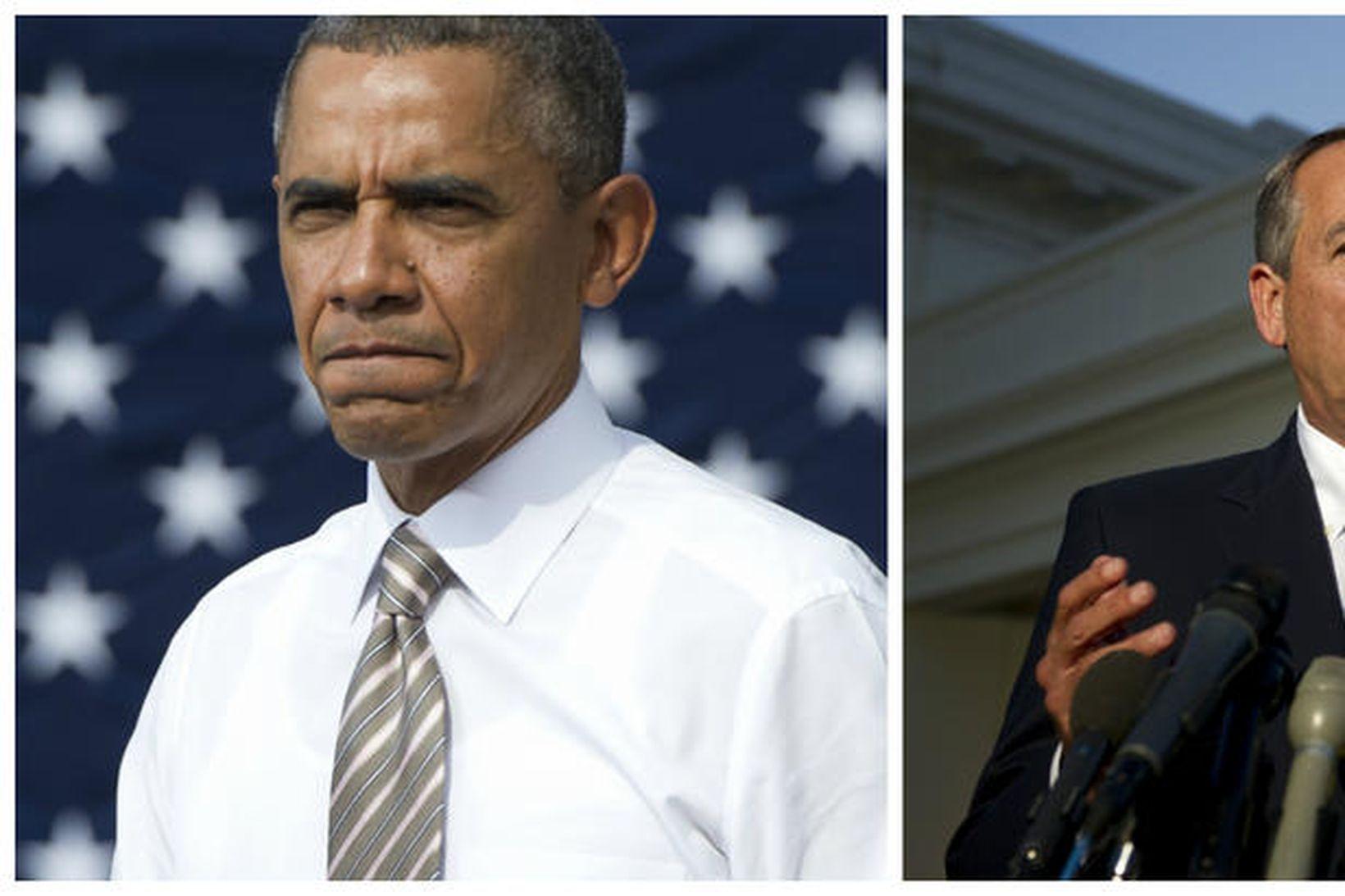 Það er stál í stál þar sem Barack Obama og …