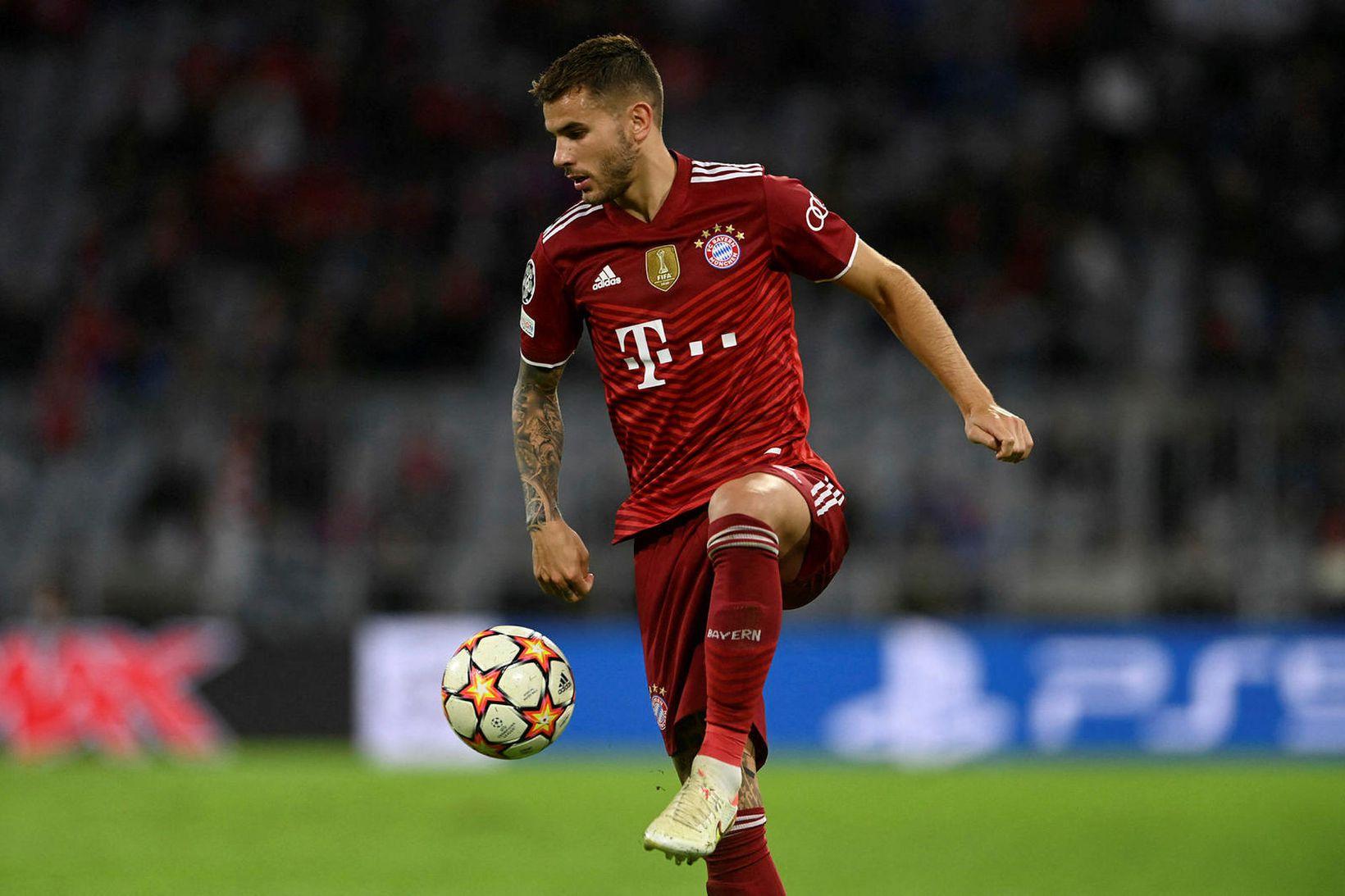 Lucas Hernandez í leik með Bayern München.