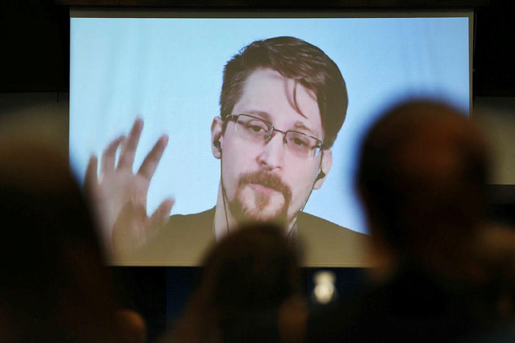 Bandaríski uppljóstrarinn Edward Snowden.