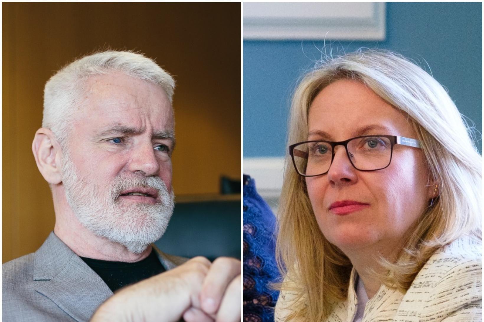 Kári Stefánsson og Sigríður Andersen.